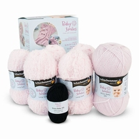 Yarn-set for 1 baby smiles blanket - roze