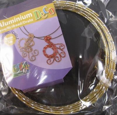 Diamond cut wire Light Gold