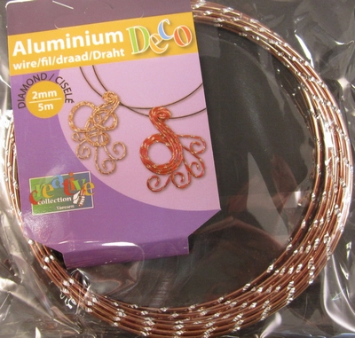 Diamond cut wire Brown