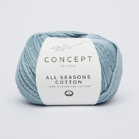 All seasons cotton - Licht blauw