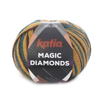 Magic diamonds - Groenblauw/Oker/Bruin