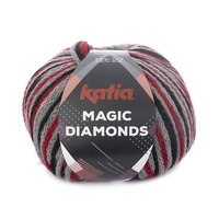 Magic diamonds - Rood/Grijs/Zwart
