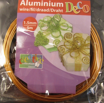 Aluminium wire Saffron Orange