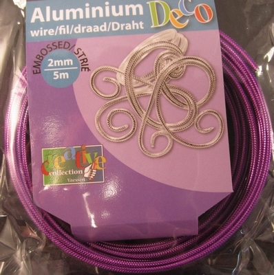 Embossed round wire Lilac