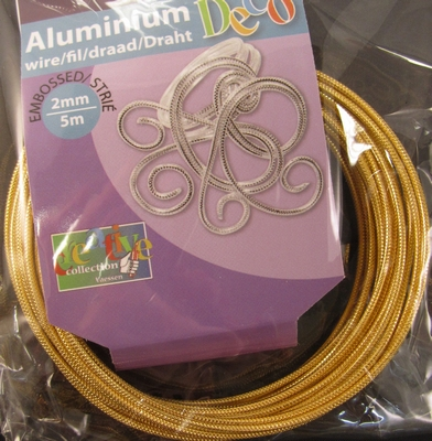 Embossed round wire Light Gold