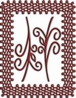 Cutting & Embossing Stencil, Japanese Lace & Flourish Frame