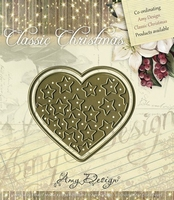 Cutting & Embossing Stencil, Star-filled heart