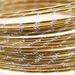 Diamond cut wire Gold