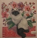 Burmese Cat and Orchids