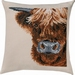 Borduurkussen Scottish Highland cow