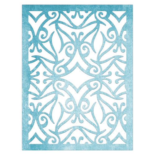 Cutting & Embossing Stencil, Mediterranean Lace Rectangle