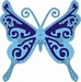 Cutting & Embossing Stencil, Exotic Butterfly Large #1